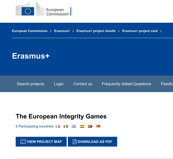 European Integrity Games, official launching